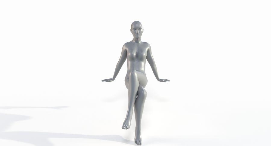 Female Base Mesh royalty-free 3d model - Preview no. 33