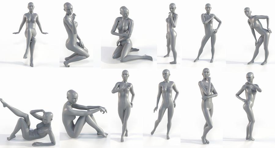 Female Base Mesh royalty-free 3d model - Preview no. 4