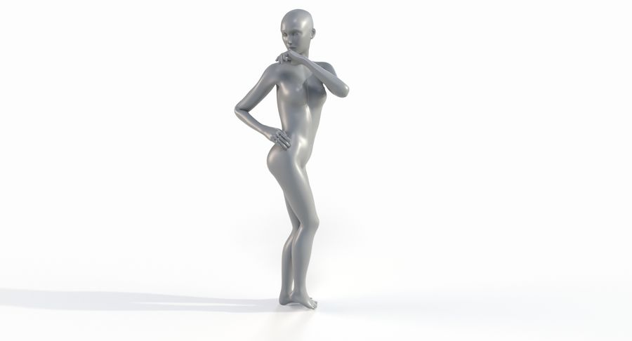 Female Base Mesh royalty-free 3d model - Preview no. 39