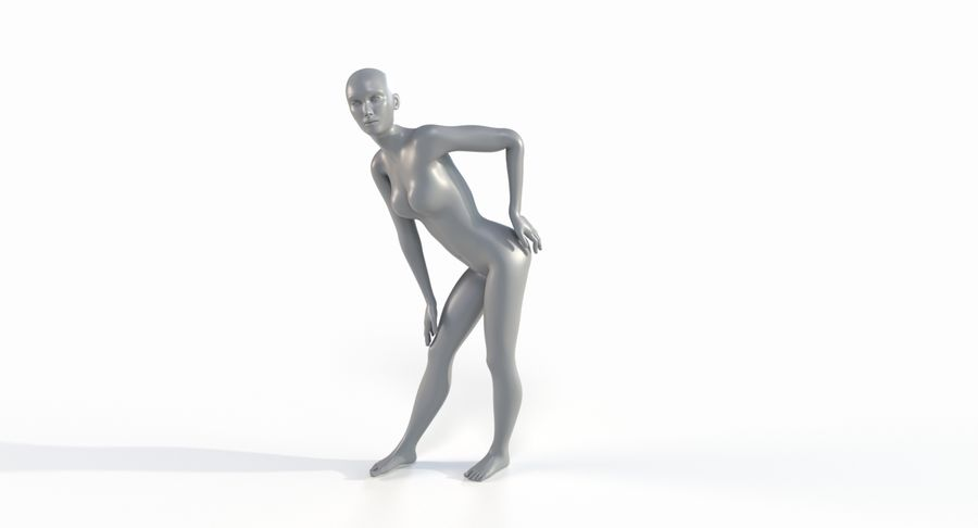 Female Base Mesh royalty-free 3d model - Preview no. 36