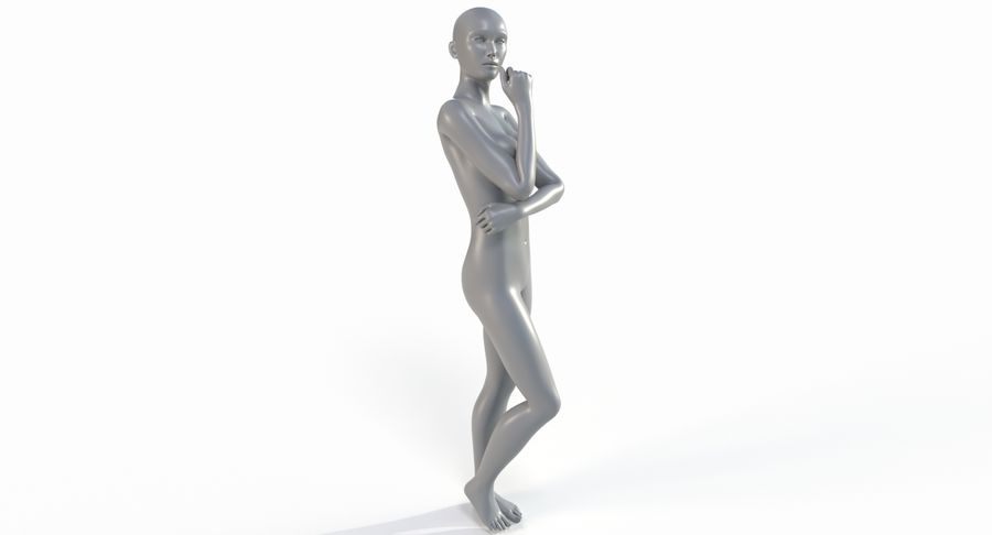 Female Base Mesh royalty-free 3d model - Preview no. 2