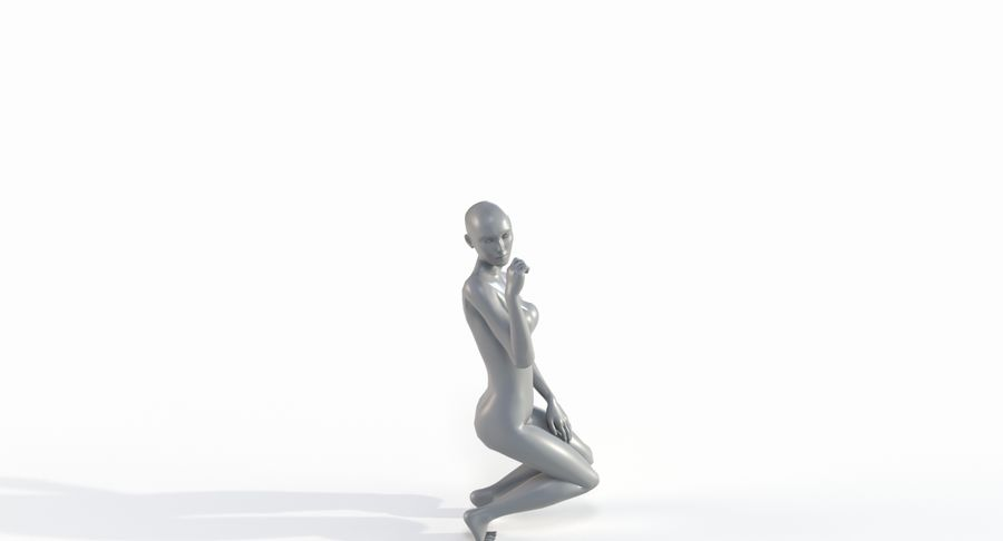 Female Base Mesh royalty-free 3d model - Preview no. 34