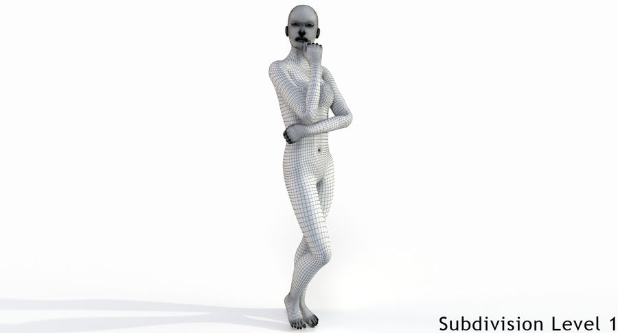 Female Base Mesh royalty-free 3d model - Preview no. 20