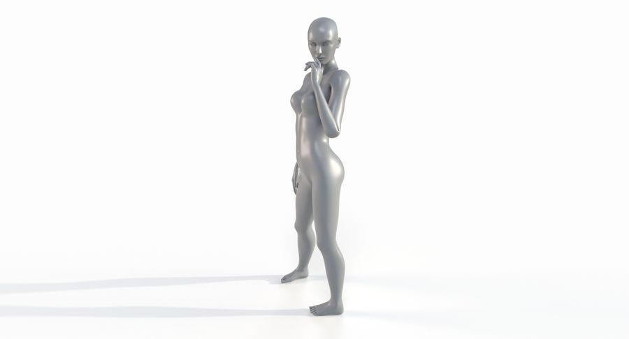 Female Base Mesh royalty-free 3d model - Preview no. 38
