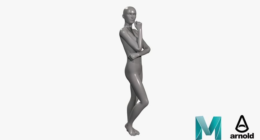 Female Base Mesh royalty-free 3d model - Preview no. 18