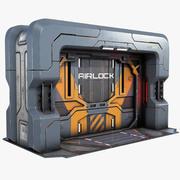 Puerta de ciencia ficción Juego de puerta listo PBR modelo 3d