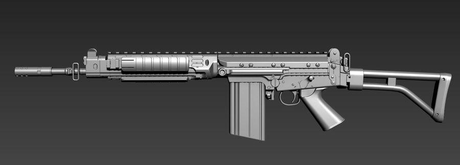 FN-FAL_PARA royalty-free 3d model - Preview no. 1