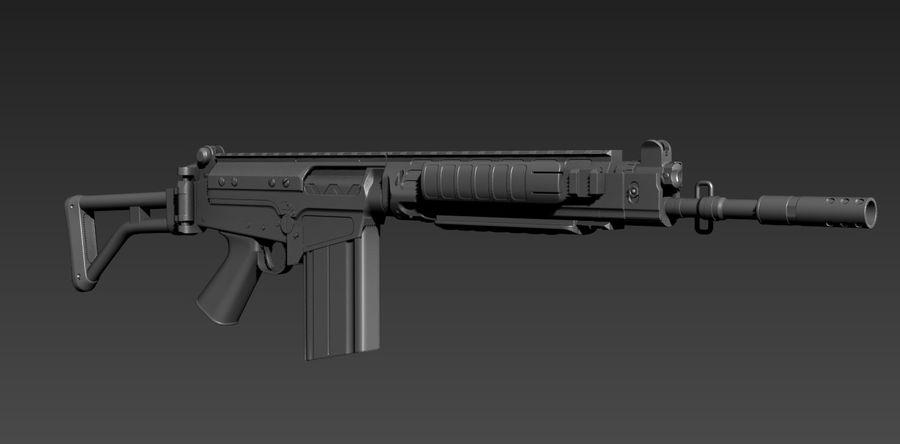 FN-FAL_PARA royalty-free 3d model - Preview no. 5
