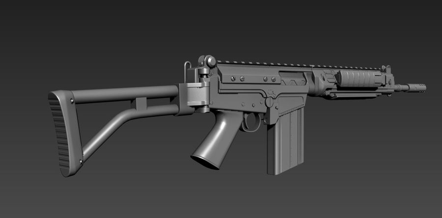 FN-FAL_PARA royalty-free 3d model - Preview no. 2