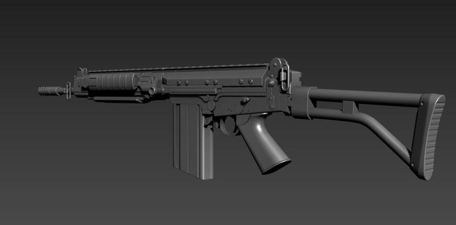 FN-FAL_PARA royalty-free 3d model - Preview no. 3