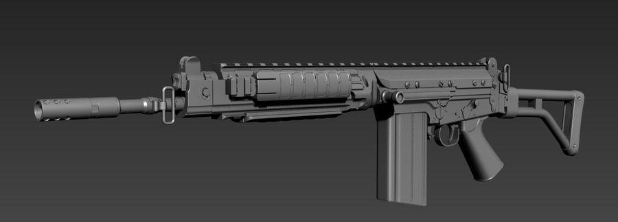 FN-FAL_PARA royalty-free 3d model - Preview no. 4
