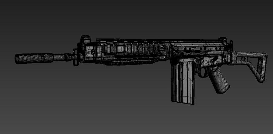FN-FAL_PARA royalty-free 3d model - Preview no. 6