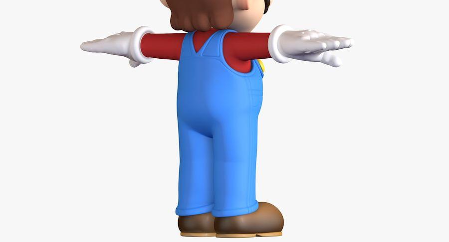 Personaggio di Super Mario Bros royalty-free 3d model - Preview no. 10