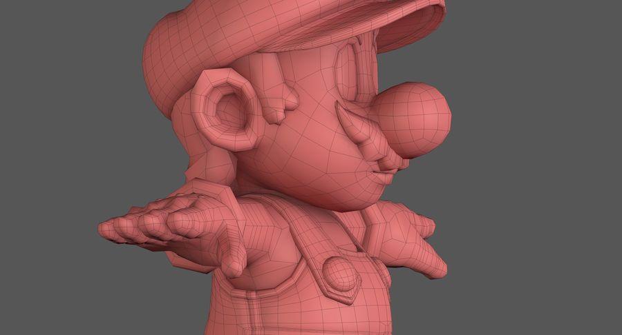 Personaggio di Super Mario Bros royalty-free 3d model - Preview no. 16