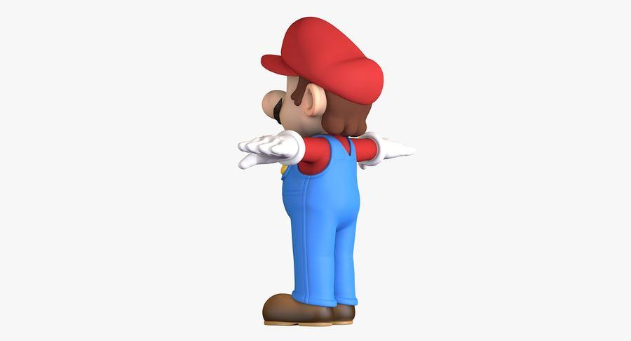 Personaggio di Super Mario Bros royalty-free 3d model - Preview no. 6
