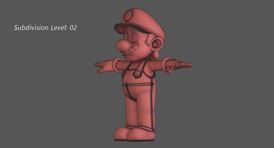 Personaggio di Super Mario Bros royalty-free 3d model - Preview no. 14