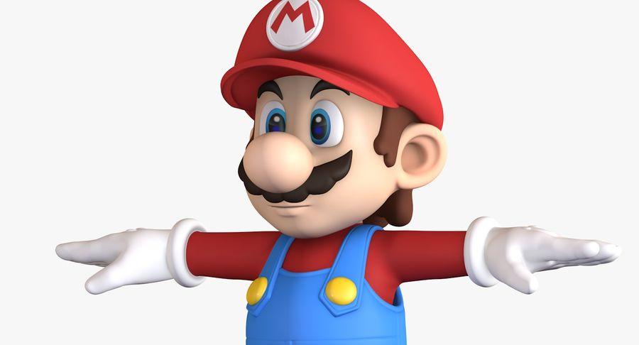 Personaggio di Super Mario Bros royalty-free 3d model - Preview no. 9
