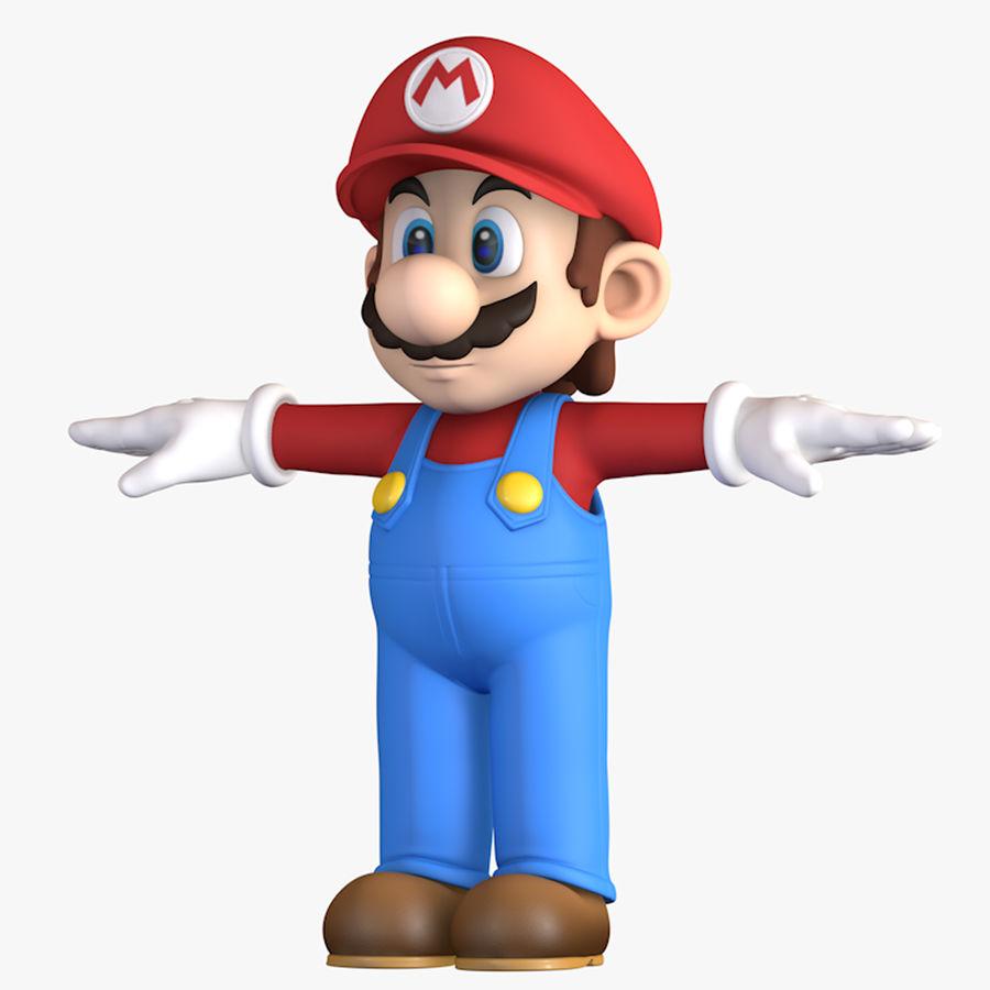 Personaggio di Super Mario Bros royalty-free 3d model - Preview no. 1
