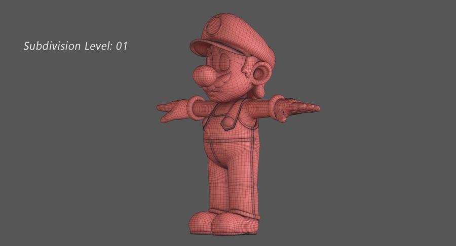 Personaggio di Super Mario Bros royalty-free 3d model - Preview no. 13