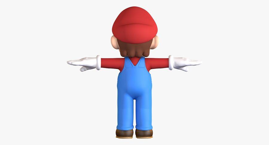 Personaggio di Super Mario Bros royalty-free 3d model - Preview no. 5