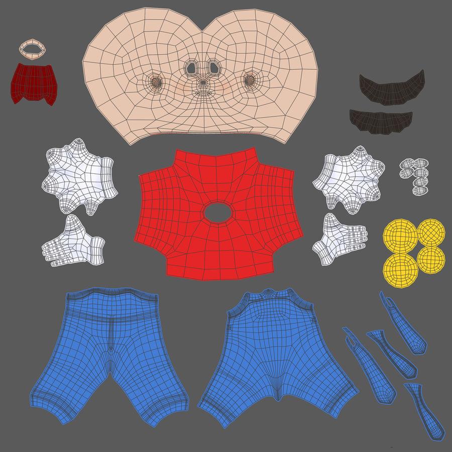 Personaggio di Super Mario Bros royalty-free 3d model - Preview no. 19