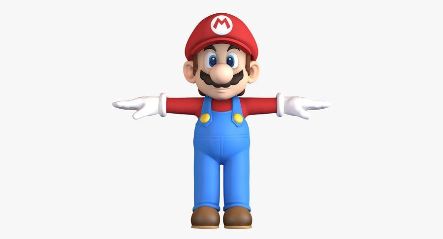 Personaggio di Super Mario Bros royalty-free 3d model - Preview no. 3