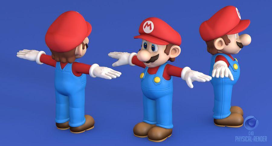 Personaggio di Super Mario Bros royalty-free 3d model - Preview no. 11