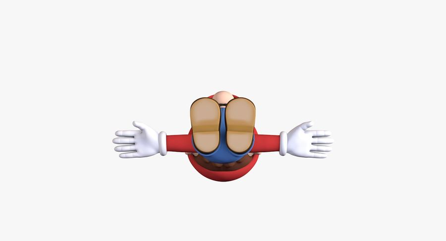 Personaggio di Super Mario Bros royalty-free 3d model - Preview no. 8
