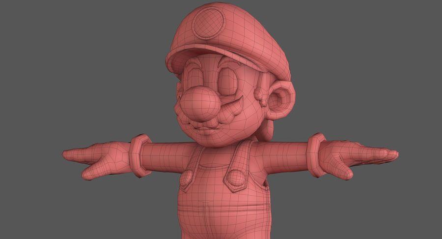 Personaggio di Super Mario Bros royalty-free 3d model - Preview no. 15