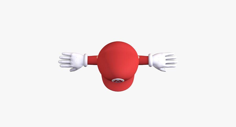 Personaggio di Super Mario Bros royalty-free 3d model - Preview no. 7