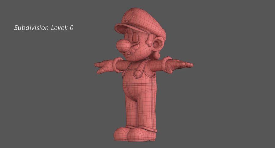 Personaggio di Super Mario Bros royalty-free 3d model - Preview no. 12