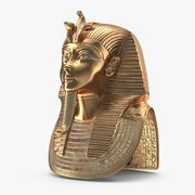 Máscara de oro de Tutankamón modelo 3d