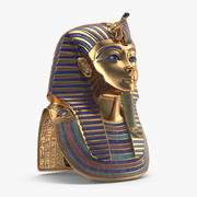 Máscara de Tutankamón modelo 3d
