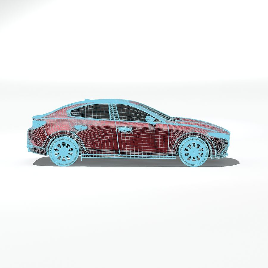 Mazda Limousine 2020 royalty-free 3d model - Preview no. 11