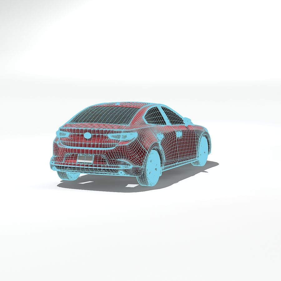 Mazda Limousine 2020 royalty-free 3d model - Preview no. 10