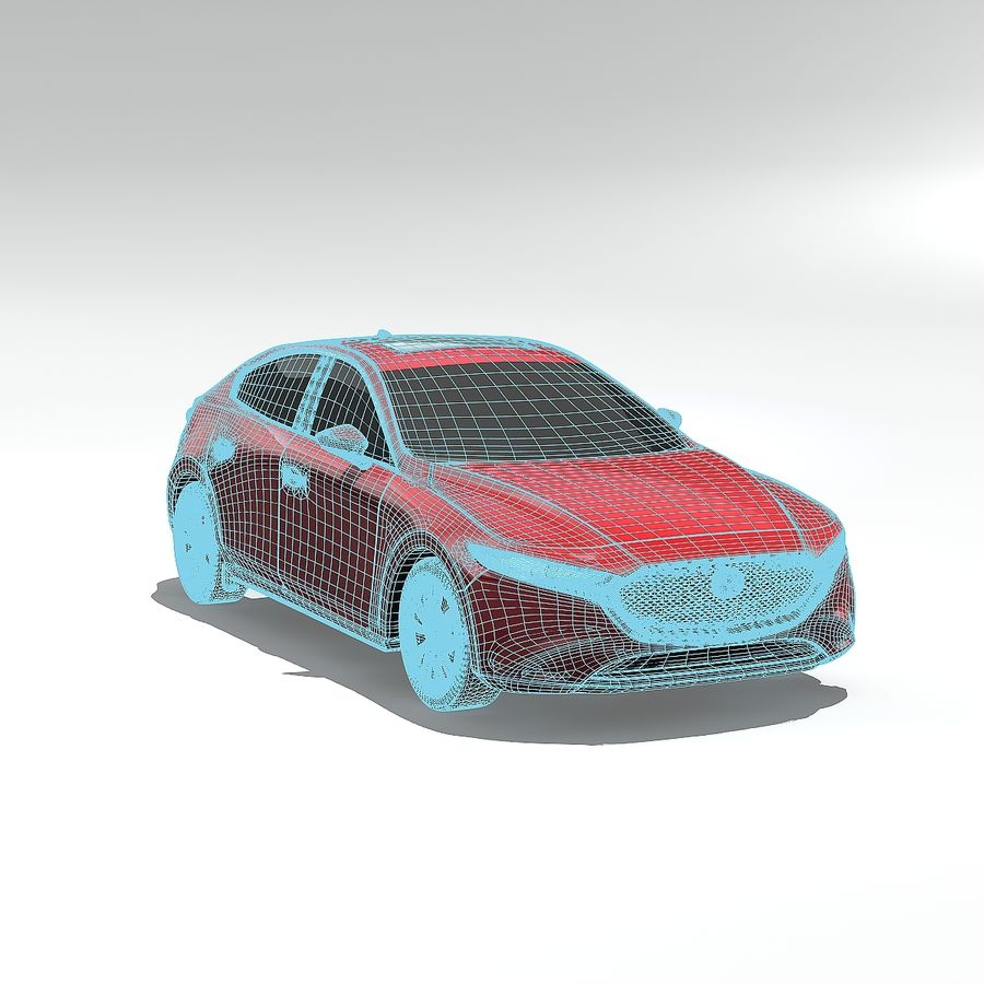 Mazda Limousine 2020 royalty-free 3d model - Preview no. 4