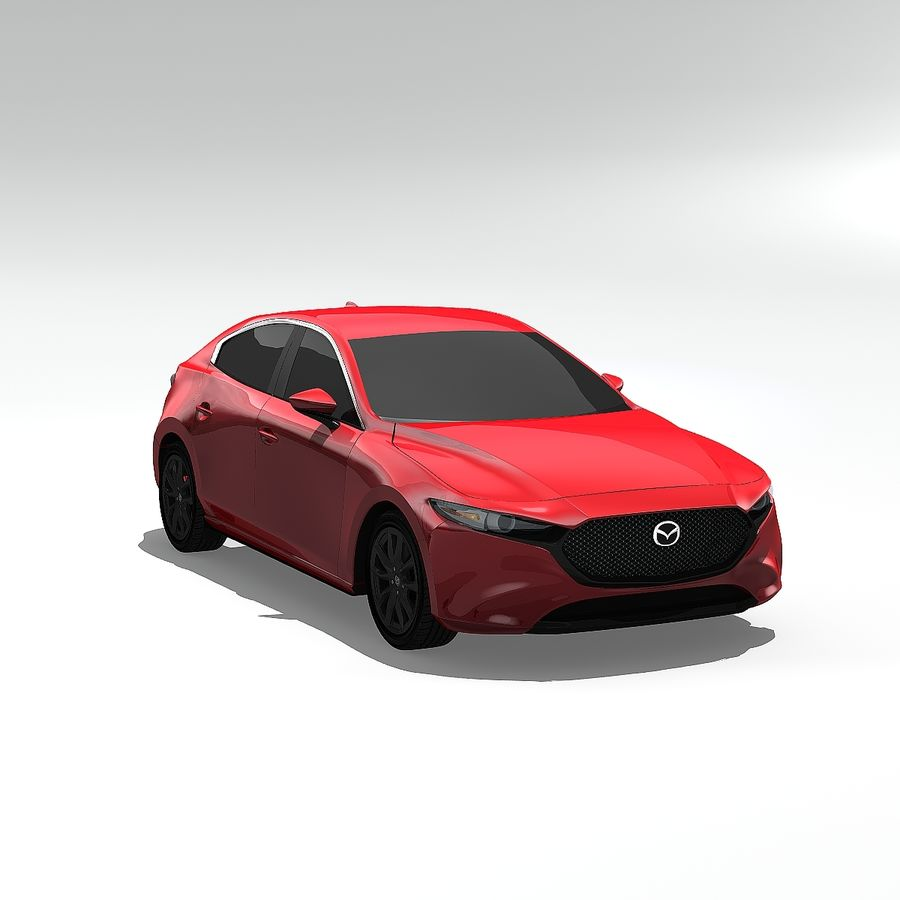 Mazda Limousine 2020 royalty-free 3d model - Preview no. 2