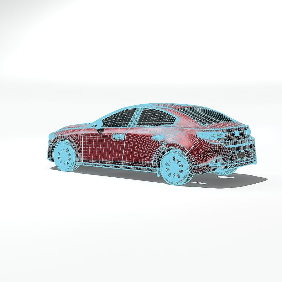 Mazda Limousine 2020 royalty-free 3d model - Preview no. 8