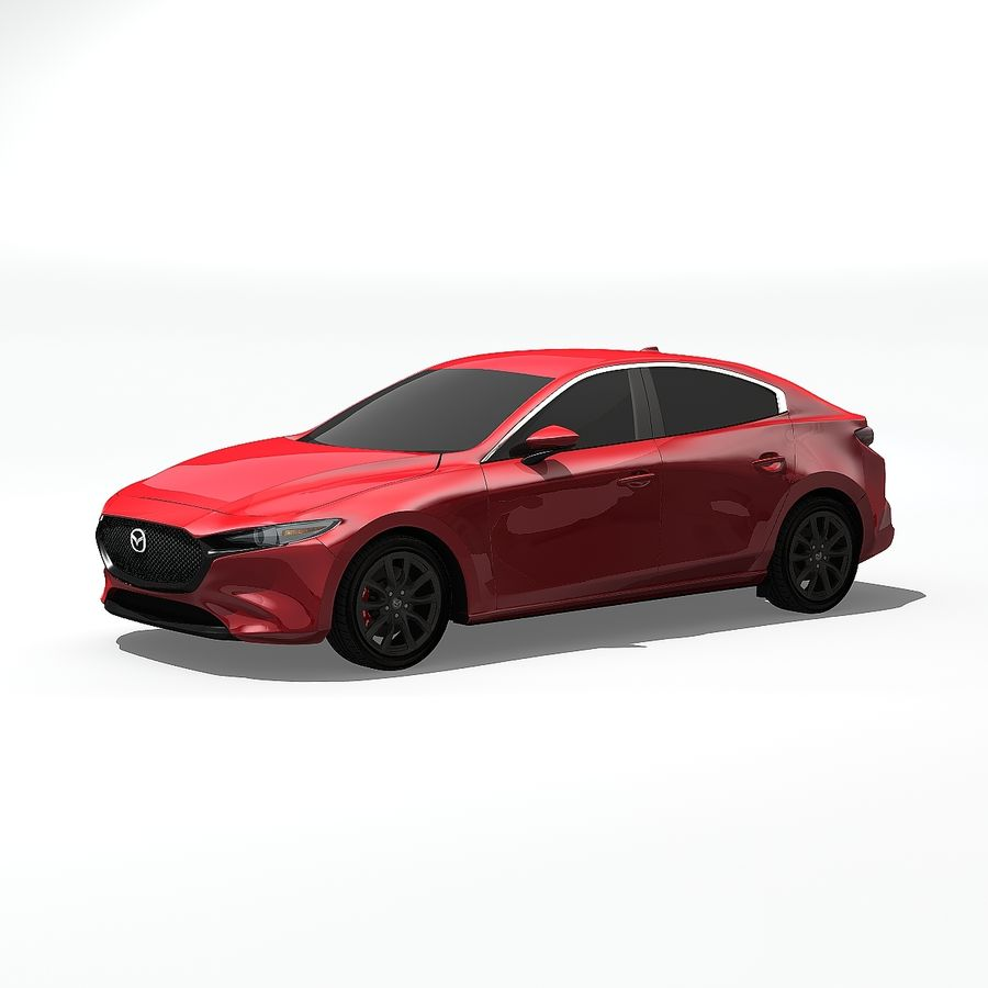 Mazda Limousine 2020 royalty-free 3d model - Preview no. 3