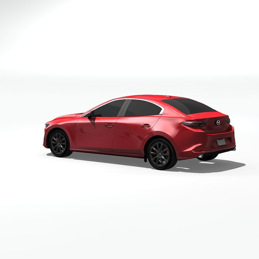 Mazda Limousine 2020 royalty-free 3d model - Preview no. 5