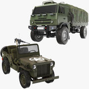 Коллекция Two Army Vehicle 3d model