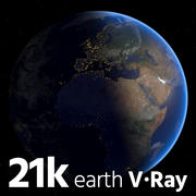 Vray Earth 21k 3d model