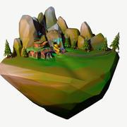 Fantasi landskap 3d model