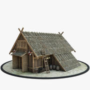 Dom Wikingów 3d model