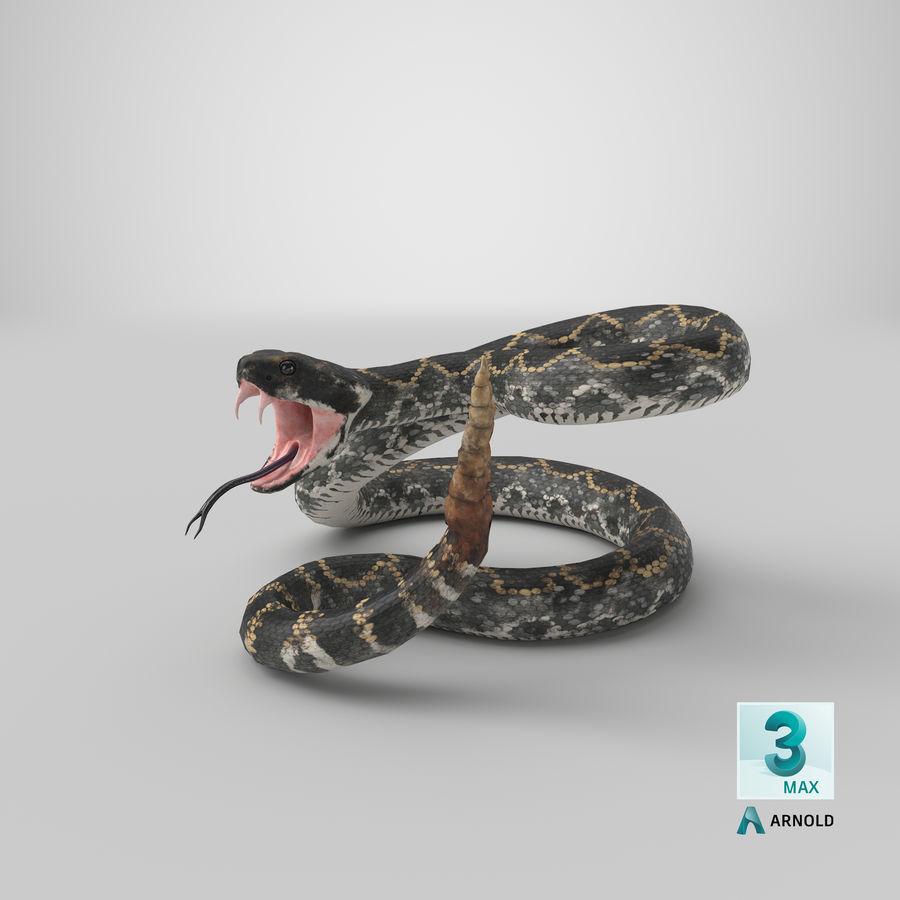 Dark Rattlesnake Attack Pose Modèle 3D royalty-free 3d model - Preview no. 31