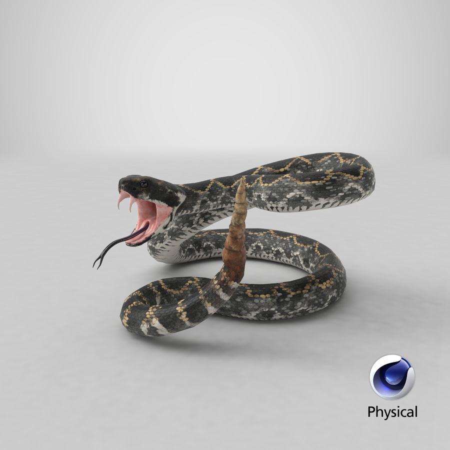 Dark Rattlesnake Attack Pose Modèle 3D royalty-free 3d model - Preview no. 27