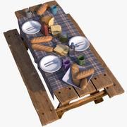 Breakfast Food Table 3d model