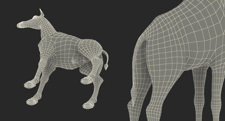 アフリカのキリン3Dモデル royalty-free 3d model - Preview no. 23