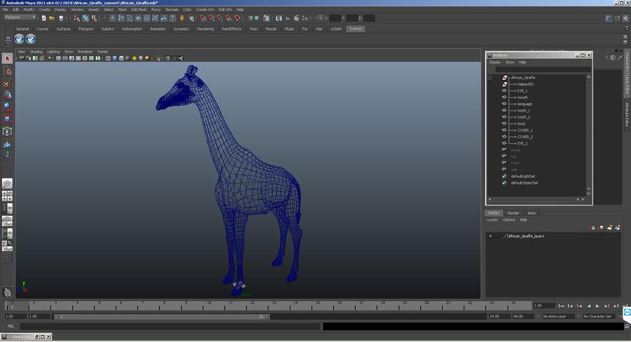 アフリカのキリン3Dモデル royalty-free 3d model - Preview no. 19