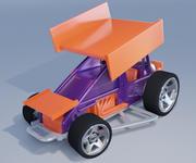 Горячие колеса выдвигаются 3d model